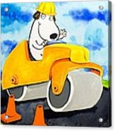 Construction Dogs 3 Acrylic Print by Scott Nelson