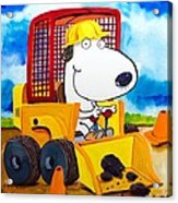 Construction Dogs Acrylic Print by Scott Nelson