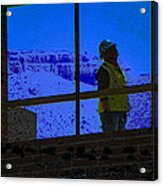 Construction Worker Acrylic Print