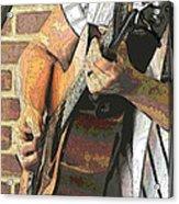 Contorno Guitarist 2 Acrylic Print