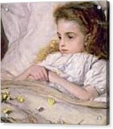 Convalescent Acrylic Print by Frank Holl