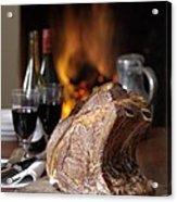 Cooked Rack Of Beef Acrylic Print by Jon Stokes
