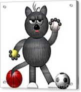 Cool Alley Cat Athlete Acrylic Print