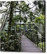 Cool House Inside The National Orchid Garden In Singapore Acrylic Print