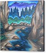 Cool Mountain Water Acrylic Print