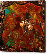 Copper Flower Acrylic Print