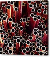 Copper Pipes. Acrylic Print