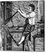 Copper Plate Printer, 1807 Acrylic Print