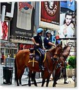 Cops In Manhattan Acrylic Print