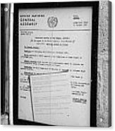 copy of the UN general assembly resolution about the missing persons in cyprus  Acrylic Print