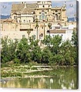 Cordoba Cathedral And Guadalquivir River Acrylic Print