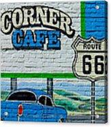 Corner Cafe Acrylic Print