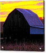 Cornfield Barn Sky Acrylic Print