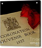Coronation Book With Roses Acrylic Print