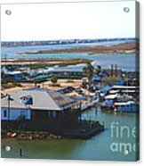 Corpus Christi Bay Towards Mustang Island Texas Acrylic Print