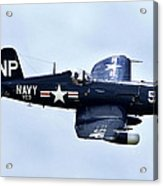 Corsair In Flight Acrylic Print by Greg Fortier