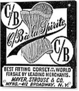 Corset Advertisement, 1888 Acrylic Print