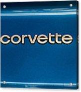 Corvette Badge Acrylic Print