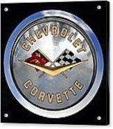 Corvette Name Plate Acrylic Print