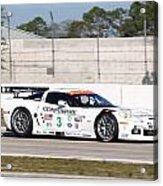 Corvette Racing Ron Fellows C6r Acrylic Print
