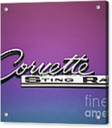 Corvette Sting Ray Emblem Acrylic Print