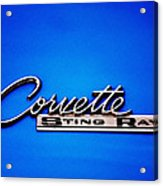 Corvette Stingray Acrylic Print