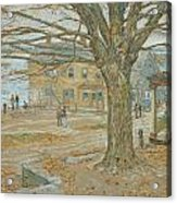 Cos Cob In November Acrylic Print by Childe Hassam
