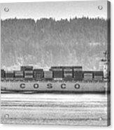 Cosco Cargo Ship Acrylic Print