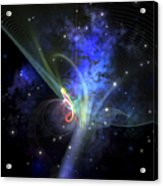 Cosmic Strands Of Gaseous Filament Acrylic Print