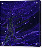 Cosmic Tree Blue Acrylic Print