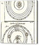 Cosmologies Of Copernicus And Tycho Acrylic Print