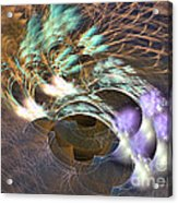 Cosmos Under Water - Fractal Art Acrylic Print