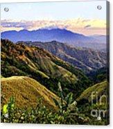 Costa Rica Rolling Hills 1 Acrylic Print