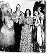 Costume Party At San Simeon. Irene Acrylic Print by Everett
