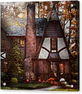 Cottage - Westfield Nj - A Place To Retire Acrylic Print by Mike Savad