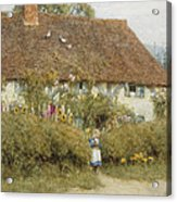 Cottage At West Horsley Surrey Acrylic Print