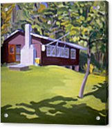 Cottage In Ludow Vermont Acrylic Print