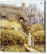 Cottage Near Freshwater  Acrylic Print by Helen Allingham