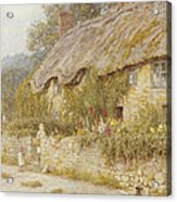 Cottage Near Wells Somerset Acrylic Print by Helen Allingham