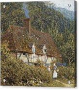 Cottage Near Witley Surrey Acrylic Print