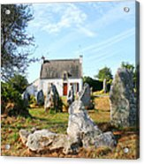 Cottage With Standing Stones Acrylic Print