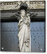 Count Your Blessings- St Mary Of Brugge- 01 Acrylic Print