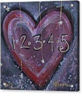 Counting Heart Acrylic Print