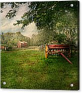 Country - The Crops Almost Ready  Acrylic Print