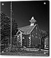 Country Church Monochrome Acrylic Print