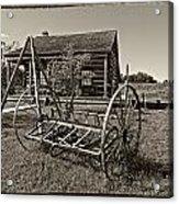 Country Classic Monochrome Acrylic Print