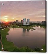 Country Club At Sunset Acrylic Print by Elido Turco Photographer