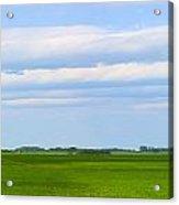 Country Grain Elevator Panoramic Acrylic Print