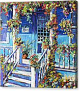 Country Porch And Flowers By Prankearts Acrylic Print