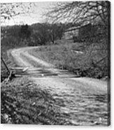Country Roads Bw Acrylic Print